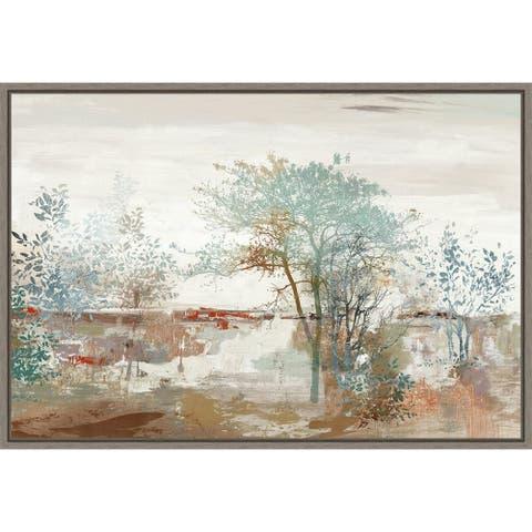Autumn Silence (Trees) by Allison Pearce Framed Canvas Art