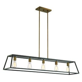 Hinkley Lighting 3335 5 Light 1 Tier Linear Chandelier from the Fulton Collection - Bronze