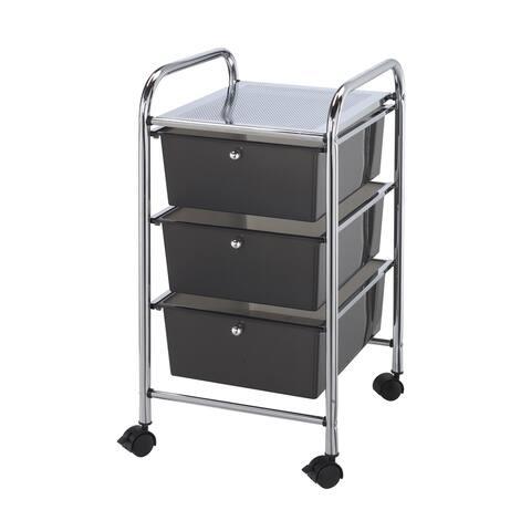 Alvin sc3sm storage cart 3-drawer (deep) smoke