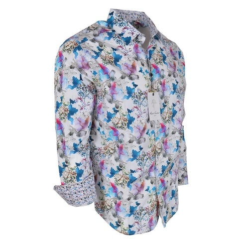 Robert Graham FLYING COLORS Floral Paisley Print Classic Fit Shirt
