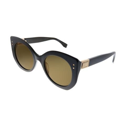 Fendi FF 0265 09Q LC Womens Black Frame Brown Lens Sunglasses