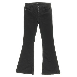 Celebrity Pink Womens Juniors Button Front Flare Leg Jeans