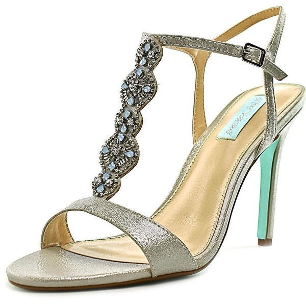 Betsey Johnson Chloe Women Open Toe Canvas Silver Sandals