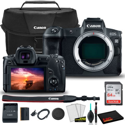 Canon R Mirrorless Camera (Body) + Canon Bag + Sandisk 64GB + Care Kit