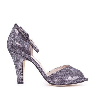 Glitter Open Ankle Strap Peep-Toe