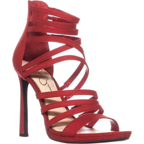 99b546b9a4f Shop Jessica Simpson Palkaya Strappy Sandals, Red Muse - Free ...