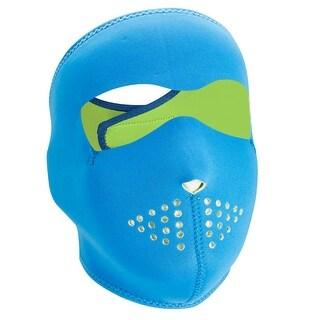ZANheadgear Neoprene Full Mask - Neon Blue Reverses to Lime - WNFM402