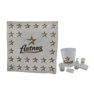Houston Astros Retro Logo Frosted Finish 7 Piece Bath Set - Red