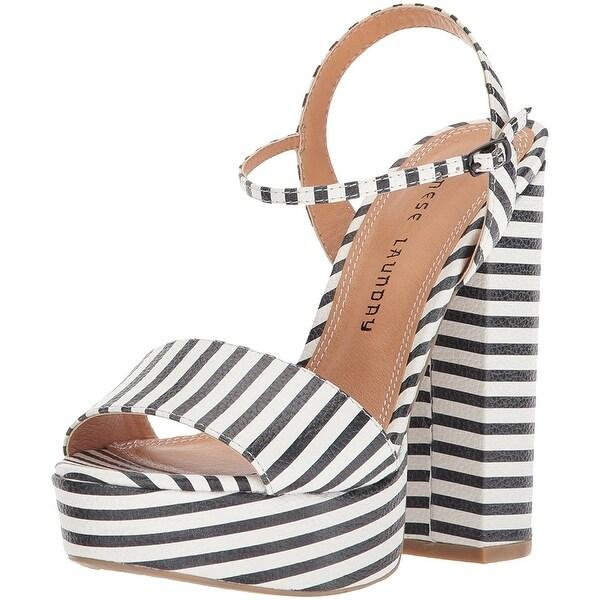 Chinese Laundry Women's Aries Stripe Platform Sandal - 7
