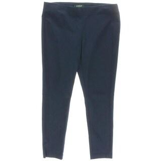 Lauren Ralph Lauren Womens Petites Flat Front Stretch Capri Pants