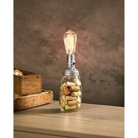 7.5' Cleveland Vintage Lighting Silver Canning Jar Light Bulb Lamp Adapter