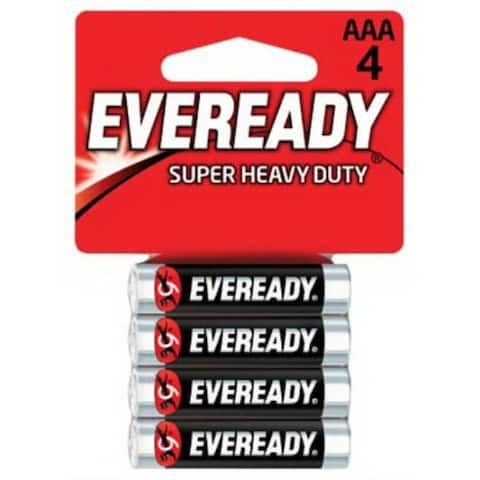 Eveready 1212SW-4 Super Heavy Duty AAA Battery, 4-Pack