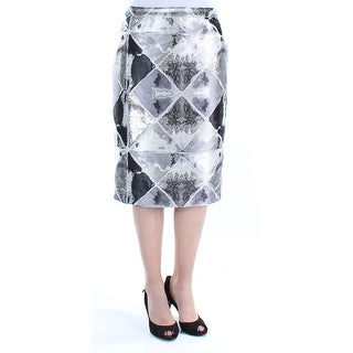 Womens Silver Geometric Casual Skirt Size 6