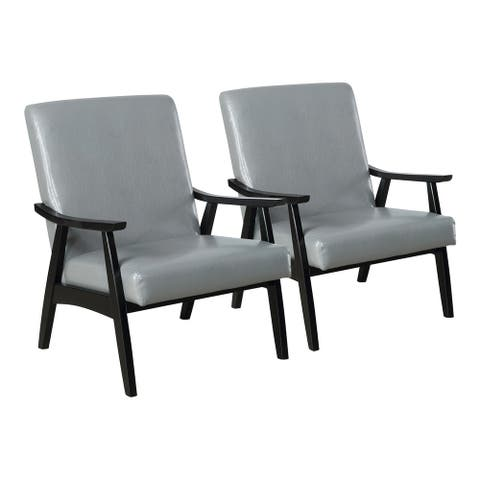 Furniture of America Balf Modern Padded Accent Chair (Set of 2)