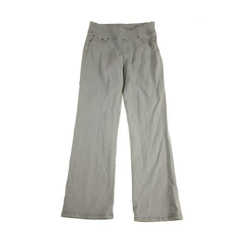 Studio M Steel Ribbed Knit A-Line Skirt L