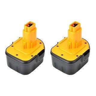 Replacement DW9072 1500 mAh Battery for Dewalt 2872KQ / DW052K / DW965 Power Tool Models (2 Pack)