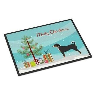 Carolines Treasures BB8450MAT Appenzeller Sennenhund Christmas Indoor or Outdoor Mat - 18 x 27 in.