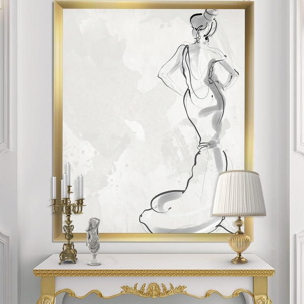 Designart 'Fancy Woman In Evening Dress' Fashion Framed Art Print. Opens flyout.