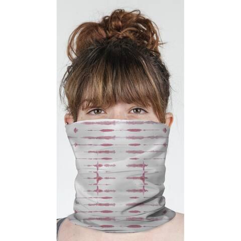"THIN SHIBORI CORAL Neck Gaiter By Becky Bailey - 10"" x 18"""