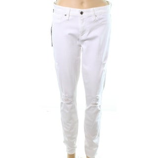Genetic NEW White Womens Size 30x30 Distressed Skinny Stretch Jeans