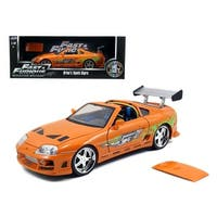 Brian\'s Toyota Supra Orange Fast & Furious Movie 1/18 Diecast Model Car by Jada