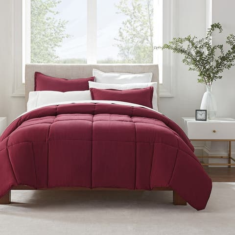 Serta Simply Clean Antimicrobial 3 Piece Comforter Set