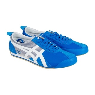 Onitsuka Tiger Fencing Mens Blue Grey Nylon Lace Up Sneakers Shoes