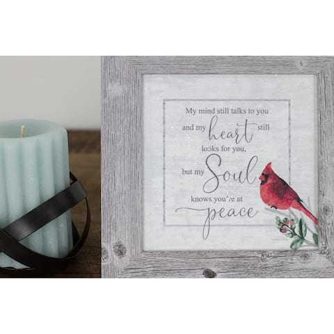 My Soul Knows Your At Peace Framed Art Decor