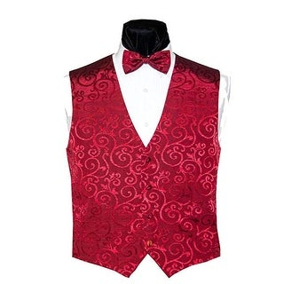 Merlot Flourish Vest and Bow Tie