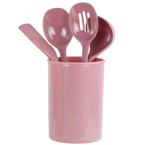 Reston Lloyd 82961 4-Piece Calypso Basics Utensil Holder Set, Pink