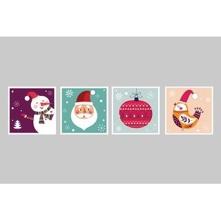 Festives Decorations Set 5 - Christmas Posters - 9x9 Matte Poster Print