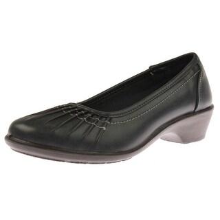 Easy Street Womens Trinnie Pumps Faux Leather Pleated - 6.5 medium (b,m)