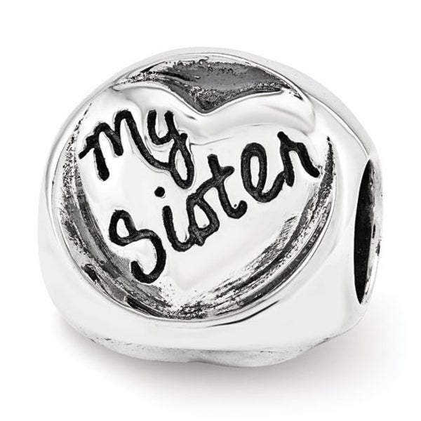 Sterling Silver Reflections My Sister My Friend Trilogy Bead (4mm Diameter Hole)