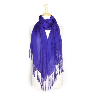 Women's All Seasons Solid Plain Lightweight Soft Wrinkled Scarf (More options available)