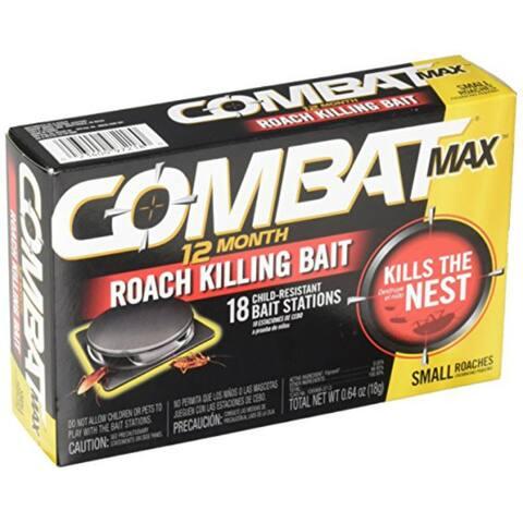 Combat 97218 MAX 12 Month Roach Killing Bait, 18 Count