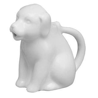 HIC NT1091 Porcelain Mini Dog Creamer, 2 Oz.