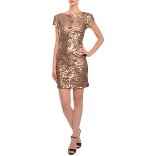 Marc Bouwer Hybrid Swirled Sequins Stretch Fit Evening Dress - 4
