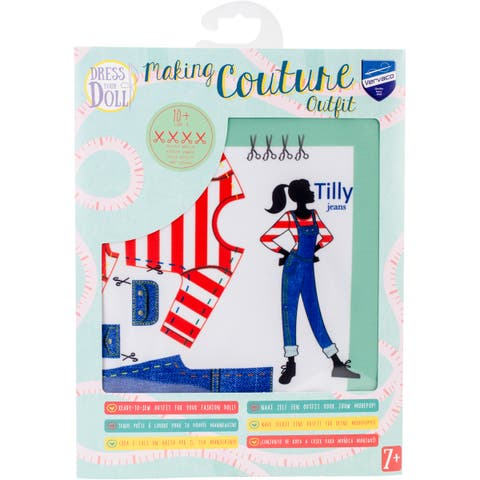 Dress Your Doll Making Couture Outfit Set-Tilly Jeans