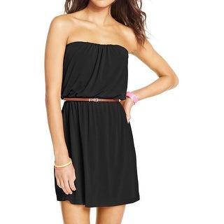 Trixxi Womens Juniors Casual Dress Slub Strapless