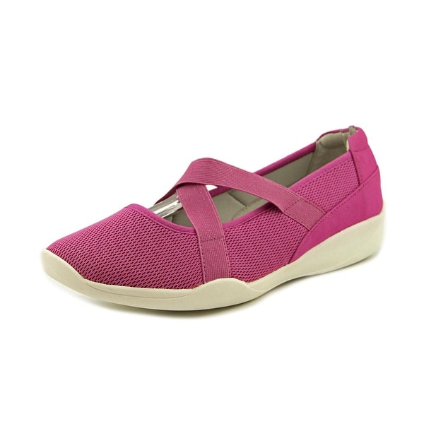 Stretchies Alison W Round Toe Synthetic Mary Janes