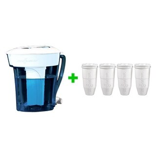 Zero Water ZP006 10 - Cup Pitcher Bundle W/ Built In TDS Meter (4 Pack) New