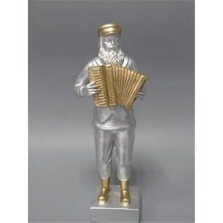 Shonfeld Crystal 7 in. Figurine Fiddler Polyresin Silver Gold