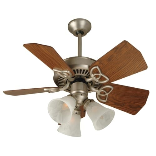 "Craftmade K10439 Piccolo 30"" 5 Blade Indoor / Outdoor Ceiling Fan with Light Kit and Blades Included"