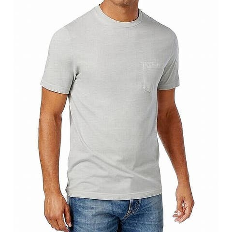 Club Room Men's Performance Pocket Soft T-Shirt, Charcoal Heather, XXL