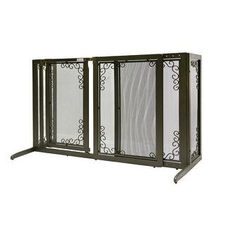 Richell Deluxe Free Standing Mesh Pet Gate Free Shipping