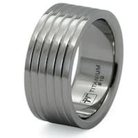 Men's Titanium Wide Flat Wedding Band