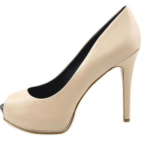 4890b53f25c Guess Honora 2 Women Open Toe Leather Nude Platform Heel - Free ...