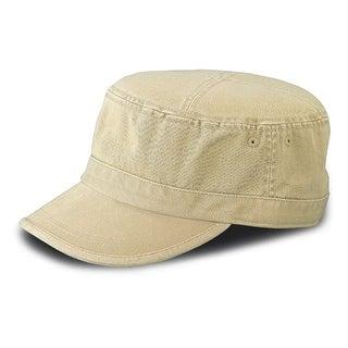 Enzyme Regular Solid Army Caps-Khaki