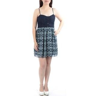 TRIXXI New 1111 Navy Geometric Lace Sheath Dress Juniors Juniors 7 B+B