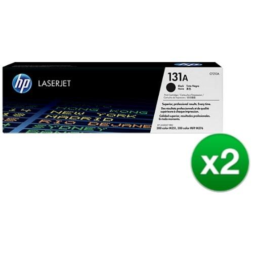 HP 131A Black Original LaserJet Toner Cartridge (CF210A)(2-Pack)